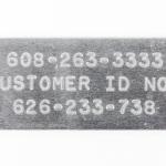 Aluminum Tag Stamped