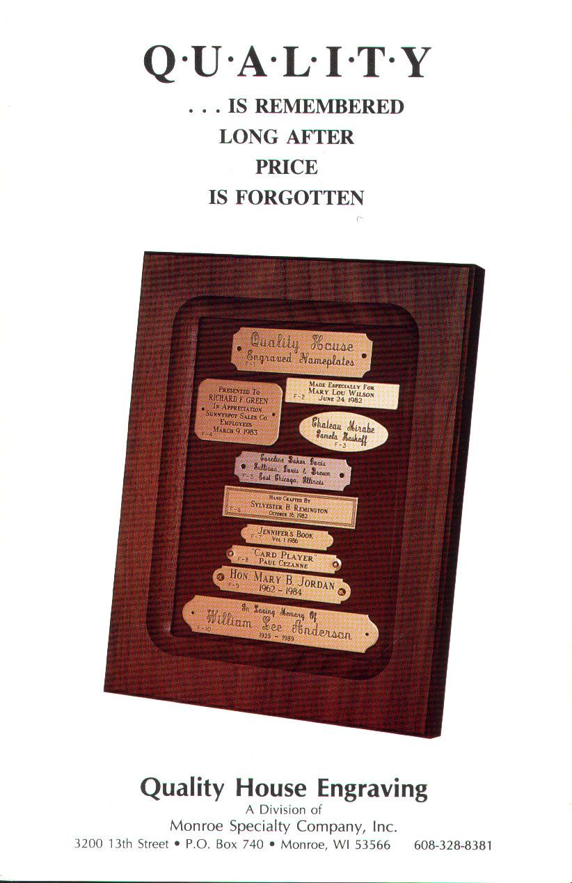 Brass nameplates monroespecialty qhfront jeuxipadfo Images